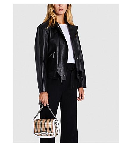 Burnham leather biker jacket(8002557)