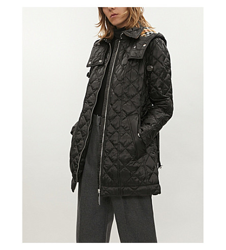 Baughton diamond-quilted shell parka coat(8002875)