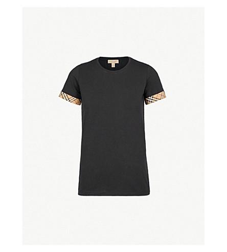 BURBERRY Kabini 弹力棉 T 恤 (黑色