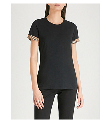 Amazing Price BURBERRY Kabini stretch-cotton T-shirt Black Buy Cheap Recommend Quality From UK Wholesale Footaction Online Choice Sale Online eTYUep4ORg