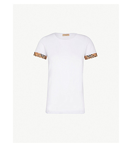 BURBERRY Kabini stretch-cotton T-shirt (White