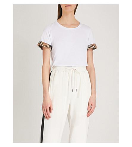 BURBERRY Kabini stretch-cotton T-shirt (White
