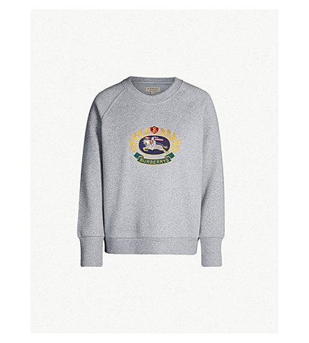 BURBERRY拉棉混合运动衫 (灰色