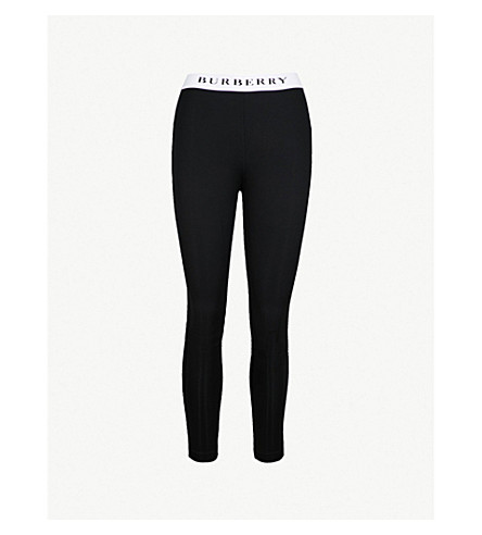BURBERRY Telaga stretch-jersey leggings (Black