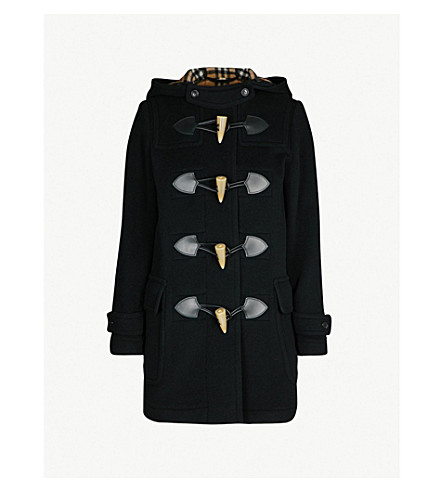 BURBERRY Merton wool-blend duffle coat (Black