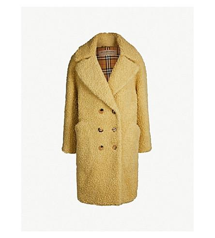BURBERRY Lillingstone teddy coat (Camomile