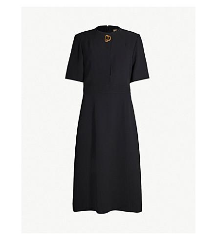 BURBERRY Kaly silk and wool-blend dress (Black
