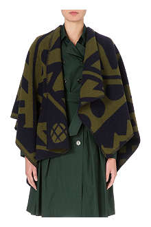 BURBERRY Printed blanket cape