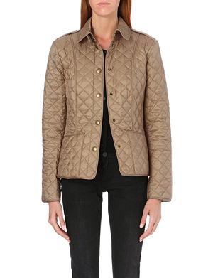 BURBERRY Kencott short waxed coat