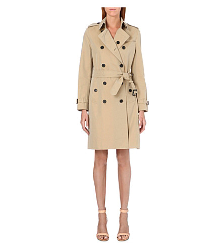 BURBERRY The Kensington long cotton-gabardine trench coat (Honey