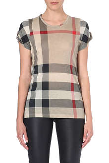 BURBERRY Checked jersey t-shirt
