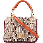 EMILIO PUCCI Python and canvas satchel
