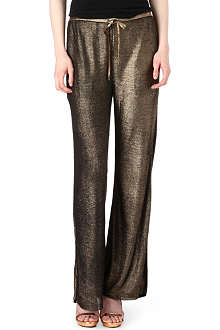 EMILIO PUCCI Wide-leg knitted metallic trousers