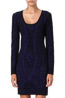EMILIO PUCCI Knitted square-neck dress