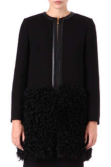EMILIO PUCCI Shearling-panel wool coat