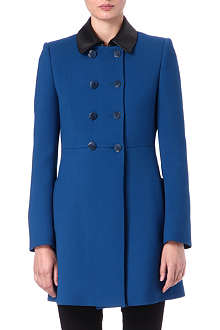EMILIO PUCCI Leather-collar coat