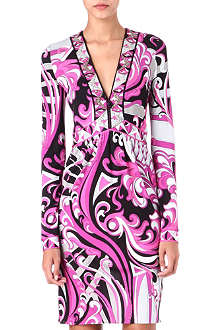 EMILIO PUCCI Printed embellished jersey dress