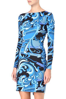 EMILIO PUCCI Ruffle-back printed dress