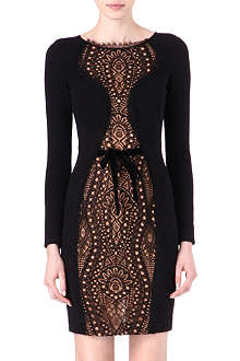 EMILIO PUCCI Lace-detail knitted dress