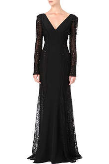 EMILIO PUCCI Beaded panelled gown