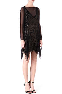 EMILIO PUCCI Silk beaded underlay dress