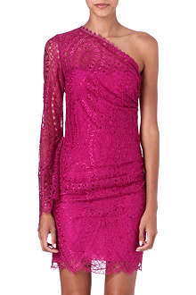 EMILIO PUCCI Lace-detailed asymmetric dress