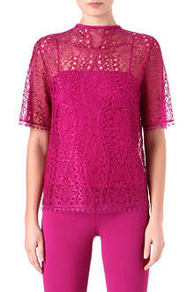EMILIO PUCCI Short-sleeved lace top