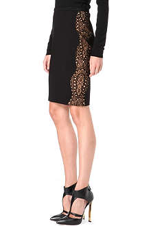 EMILIO PUCCI Lace-panel pencil skirt