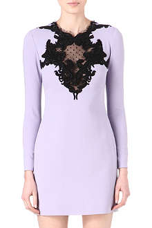 EMILIO PUCCI Embroidered lace-insert dress