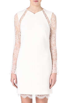 EMILIO PUCCI Lace panelled cutout-back dress