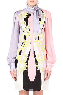 EMILIO PUCCI Ruffle-neck silk dress