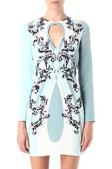 EMILIO PUCCI Cut-out printed silk dress