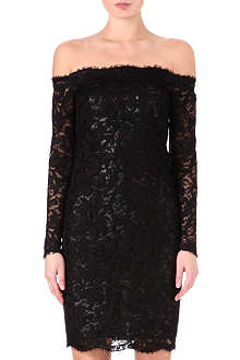 EMILIO PUCCI Off-the-shoulder lace dress