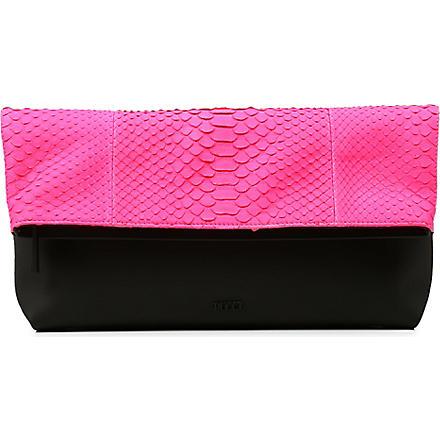 EMILIO PUCCI Python clutch bag (Pink