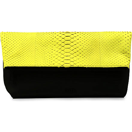 EMILIO PUCCI Python clutch bag (Yellow