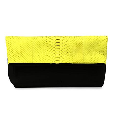 EMILIO PUCCI Python clutch bag (Yellow