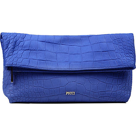 EMILIO PUCCI Foldable clutch bag (Blue