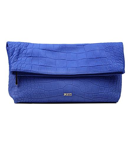 EMILIO PUCCI Foldable clutch bag (Blue