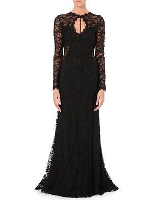 EMILIO PUCCI Keyhole-neckline lace gown
