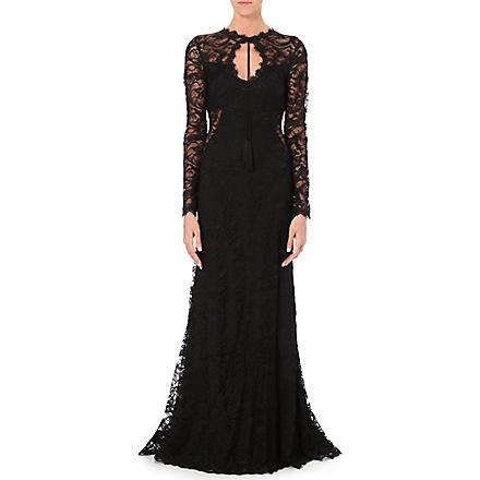 EMILIO PUCCI Keyhole-neckline lace gown (Black