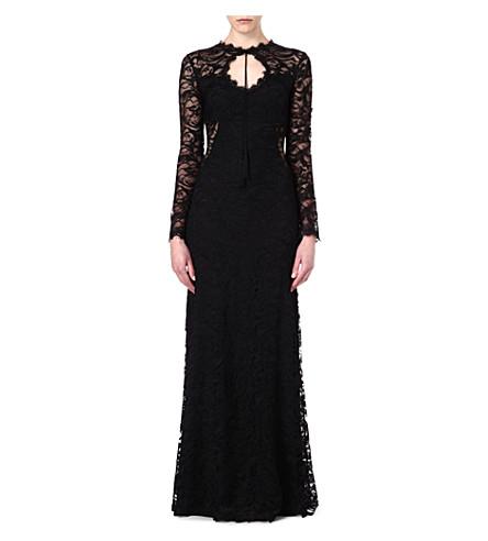 EMILIO PUCCI Keyhole lace gown (Black