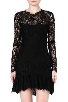 EMILIO PUCCI Lace frilled-hem dress