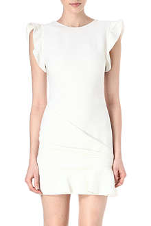 EMILIO PUCCI Frilled-shoulder wool dress