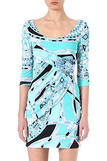 EMILIO PUCCI Printed scoop-neck dress