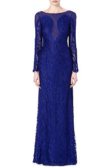 EMILIO PUCCI Sheer-detail lace gown
