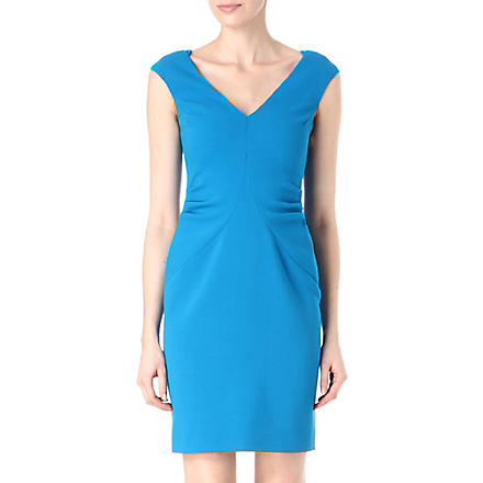 EMILIO PUCCI V-neck wool dress (Blue