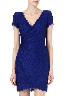 EMILIO PUCCI V-neck lace wrap dress