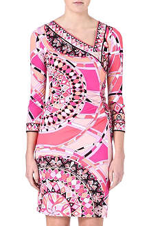 EMILIO PUCCI Asymmetric neck printed jersey dress