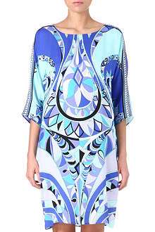 EMILIO PUCCI Printed silk tunic dress