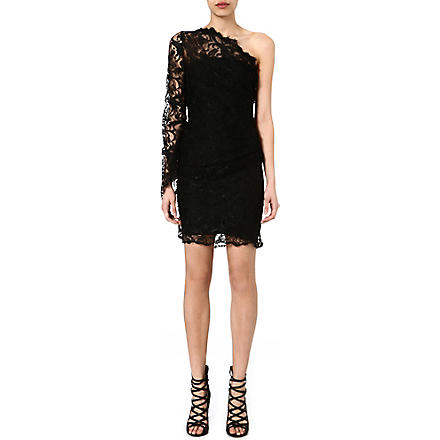 EMILIO PUCCI Asymmetric lace dress (Black